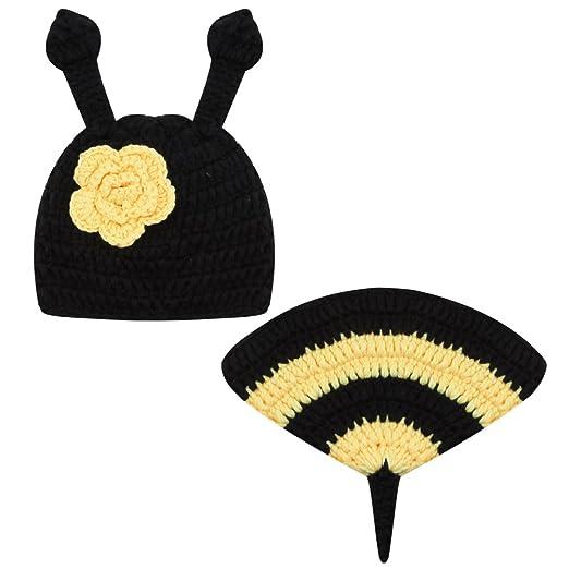 7dbad576c Amazon.com: Newborn Photography Prop,amazingdeal Baby Girls Boys Bee  Crochet Knit Costume: Clothing