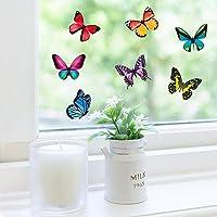 NUMONE Pegatinas de ventana de mariposa, anticolisión, pegatinas reutilizables para vidrios manchados