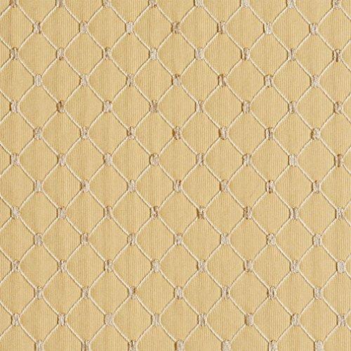 (B653 Gold Diamond Jacquard Woven Upholstery Fabric by The Yard)