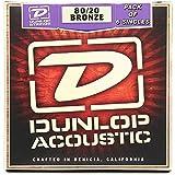 #9: Performance Plus (by Dunlop) DAB26-6 80/20 Bronze Acoustic Guitar .26 Gauge, Medium G String - Pack of 6 Single Strings