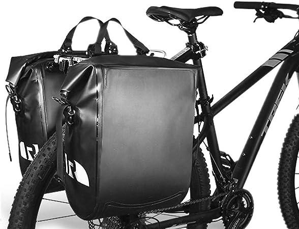 Bike Bolsa de Equipaje Alforja para Maletero de Bicicleta, Alforja de Asiento Trasero de Bicicleta de Gran Capacidad para Bicicleta Duradera Impermeable (Color : 2 Pcs): Amazon.es: Hogar