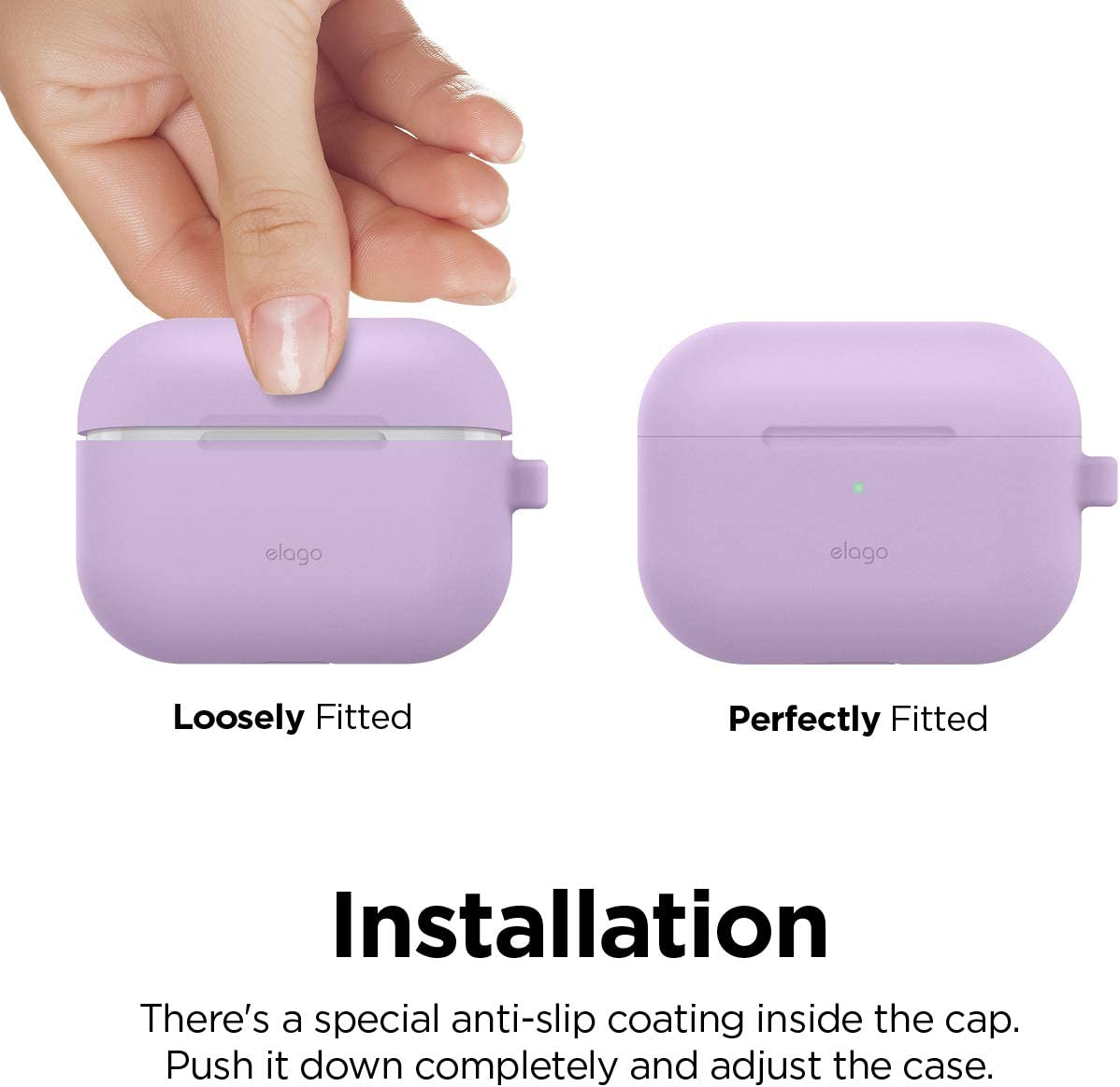 elago AirPods Pro Case Silicone Cover Designed for Apple AirPods Pro Case LED visible Nightglow Blue Premium Silicone Case for AirPods Pro 360/° Full body Protection