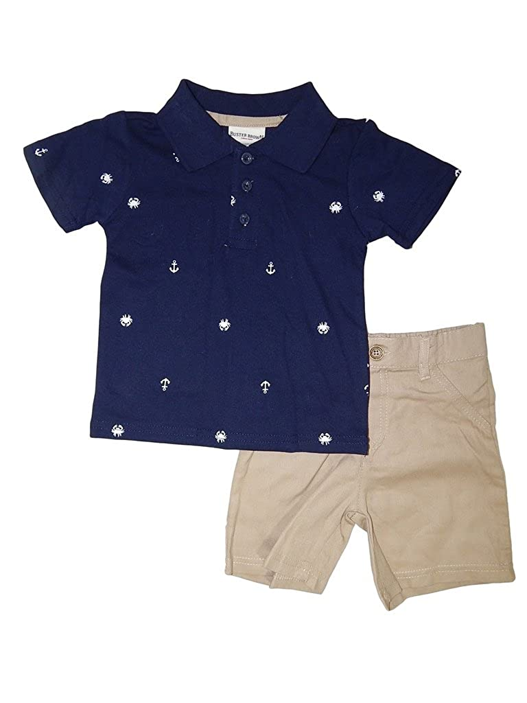 Buster Brown Baby Boys' Crab Anchor 2 Piece Outfit