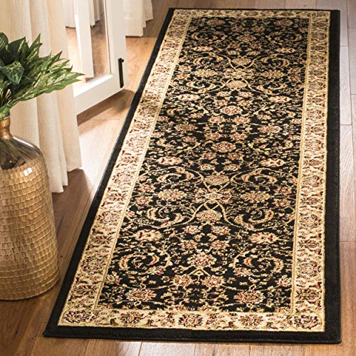Safavieh Lyndhurst Collection LNH219A Traditional Oriental Black and Ivory Runner (2'3