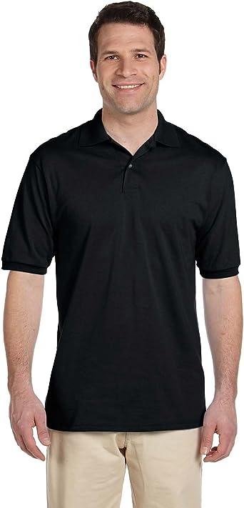 Jerzees Mens Welt Knit Collar Durable Cross-Stitch Polo Shirt