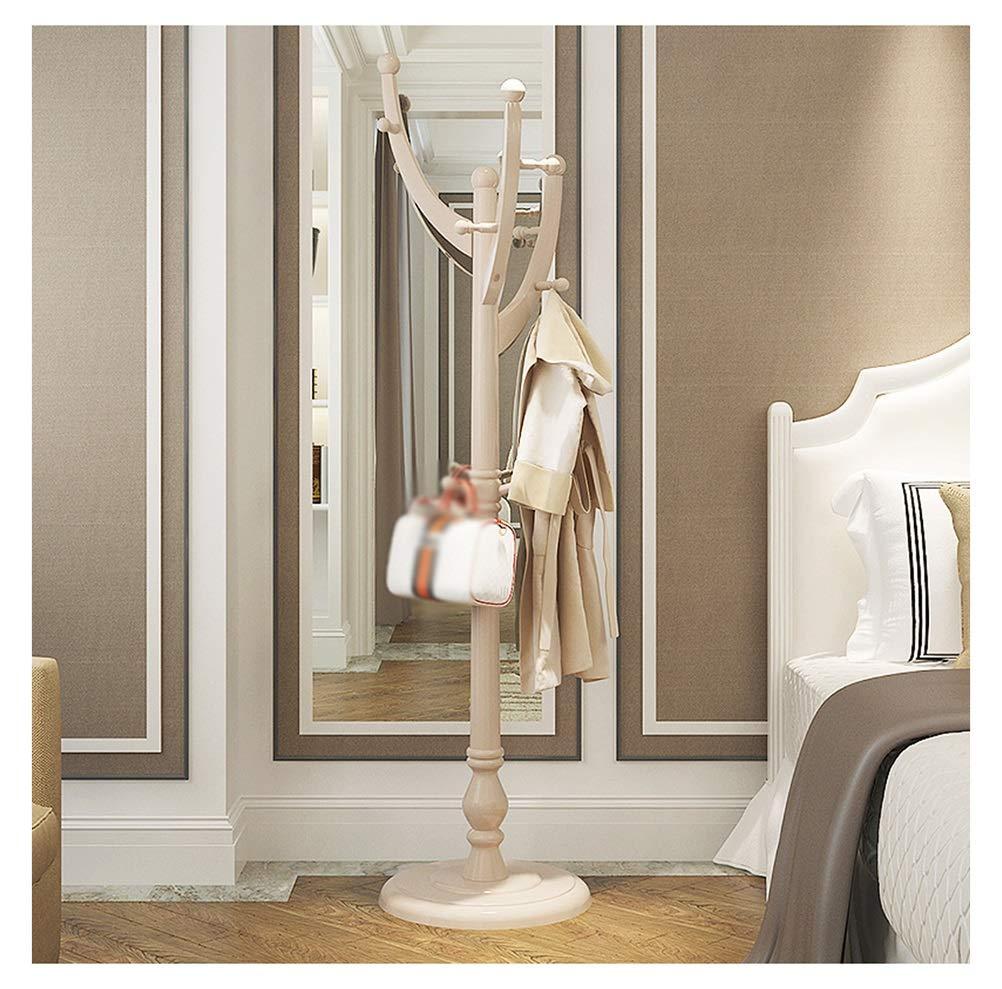 WYQSZ コートラックフロア木製ハンガーシンプルでモダンな寝室吊りラックリビングルームラックホーム ハンガーラック   B07SCPWWVD