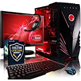 "Vibox Sharp Shooter Package 7 Gaming PC - with Warthunder Game Bundle, Windows 10, 21.5"" HD Monitor, Gamer Headset, Keyboard & Mouse Set (4GHz AMD FX Quad Core Processor, Nvidia Geforce GTX 750 Graphics Card, 1TB Hard Drive, 16GB RAM, Vibox Commando Red LED Case)"