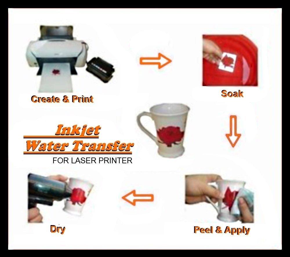 Amz - Druckerpapier,speziell für Abziehbilder, A4-Format, 20Blatt 20Blatt