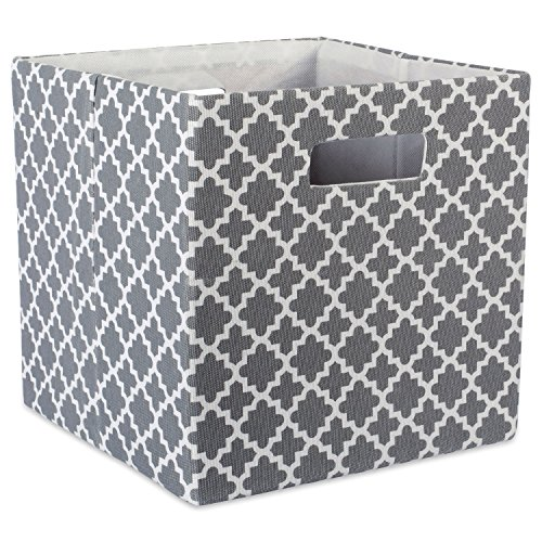 DII Hard Sided Collapsible Fabric Storage Container for Nursery, Offices, Home Organization, (13x13x13) - Lattice (Hard Cube)