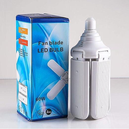 Happt Lampada da Soffitto Lampada da Officina Deformabile A LED per Garage Pieghevole 60W E27 Universale Pieghevole Caldo Lampada da Officina