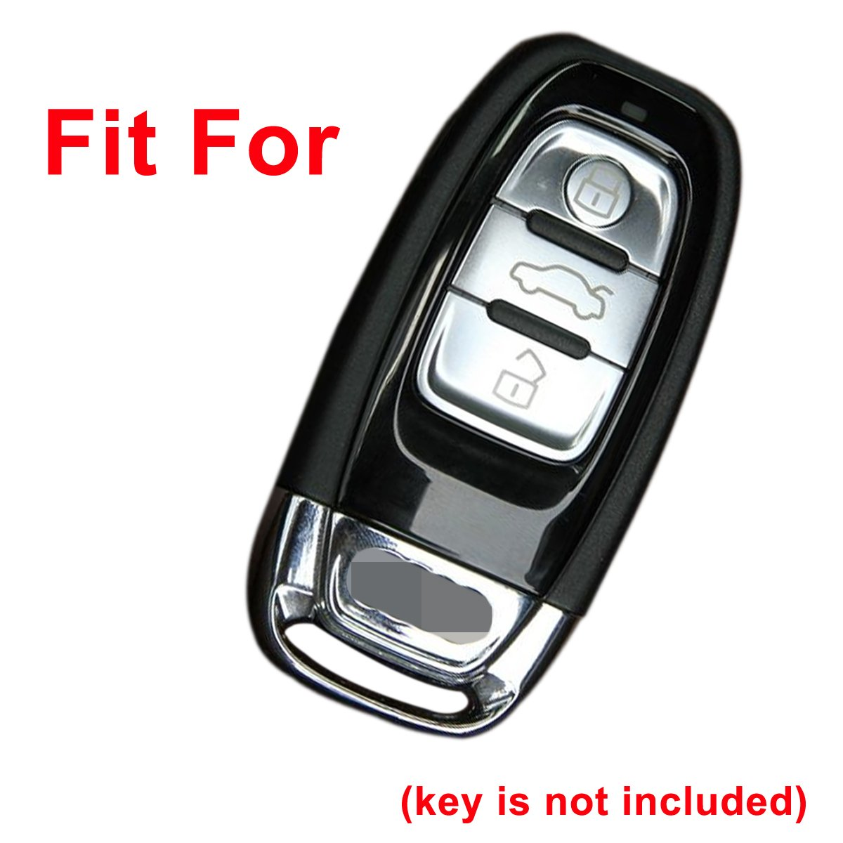 Coolbestda Leather 4Buttons Key Fob Protector Keyless Holder Cover Skin Jacket Remote Control Shell for Audi A1 A3 A4 A5 A6 A7 A8 Q5 Q7 R8 S5 S7 Q5 RS Insert Key to Ignition NOT FIT
