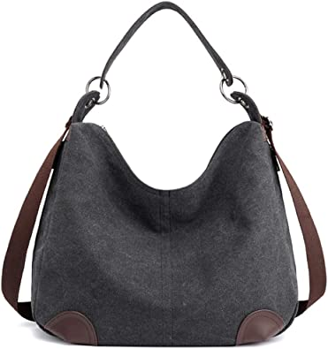 Womens Handbag Canvas Multifunctional Casual Large Capacity Crossbody Bag Hobo Tote Shopping Bag for Women Girls Ladies,Purple YNNB Vintage Shoulder Bag