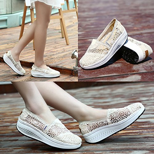 Pictures of Fashiontown Women's Mesh Platform Walking Shoes 2