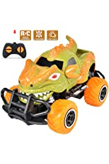 PBOX Monster Remote Control Car,4 Channel Electric Off Road Climbing Vehicle Toy Cars,1:43 Scale Car Toy for Age 4 and Above Boys Girls Best Gift (Green) (Green) (Green) (Green) (Green)
