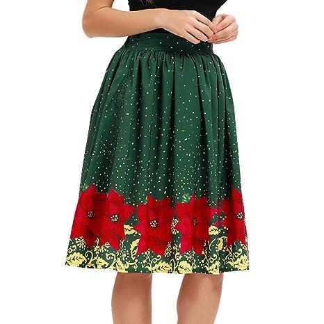 CoURTerzsl Vestido Estampado de Flores Fiesta Elástica Cintura ...