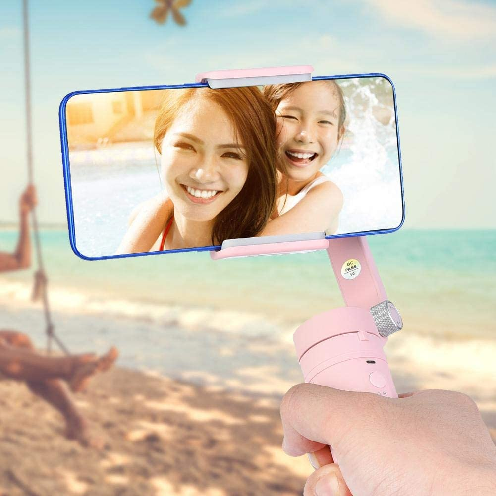 Mini Portable 3-Axis Gimbal Stabilizer Holder Foldable Foldable Phone Stabilizer for Mobile Phone Vlog Live Broadcast Youtuber Live Video SolUptanisu Handheld Gimbal Stabilizer