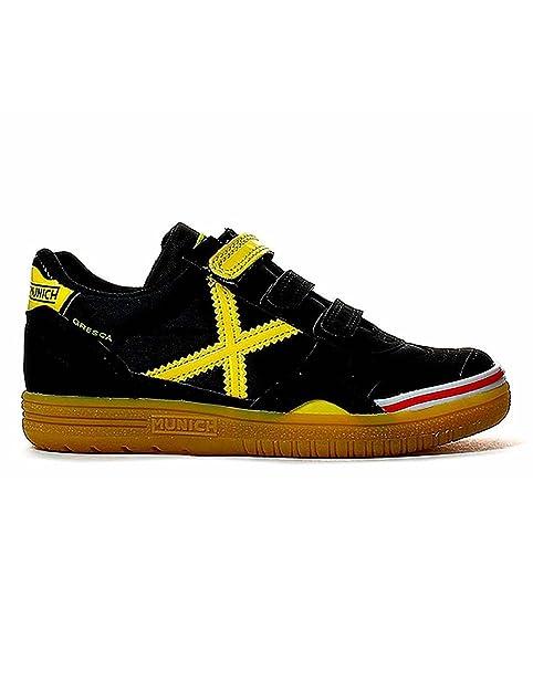 Zapatilla de niño Munich Gresca Negro Amarillo 29 Negro: Amazon.es: Zapatos y complementos