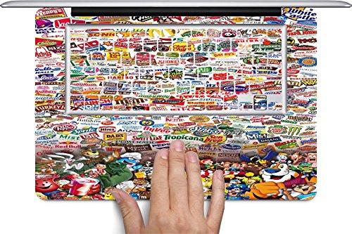 Crazy Fast Food Junk Food Fun Macbook Full Keyboard Vinyl Decal Skin (Fits 11 inch) by Debbie's Designs by Debbie's Designs