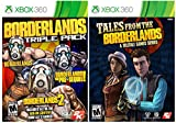 xbox 360 triple pack - Borderlands Complete Quadriple Pack Themed Bundle - All 4 Borderlands Games on Xbox 360! Borderlands Triple Pack plus ALL ADD-ON Content PLUS Tales From The Borderlands