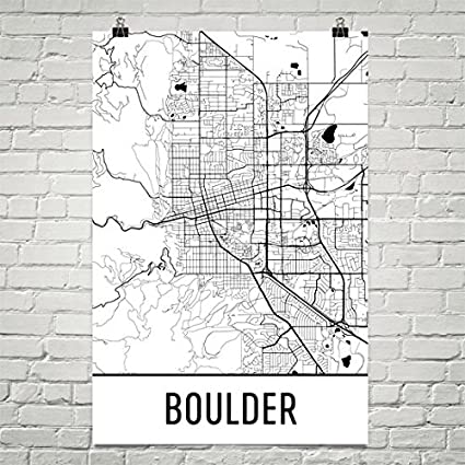 Colorado Map Art.Amazon Com Boulder Poster Boulder Art Print Boulder Wall Art