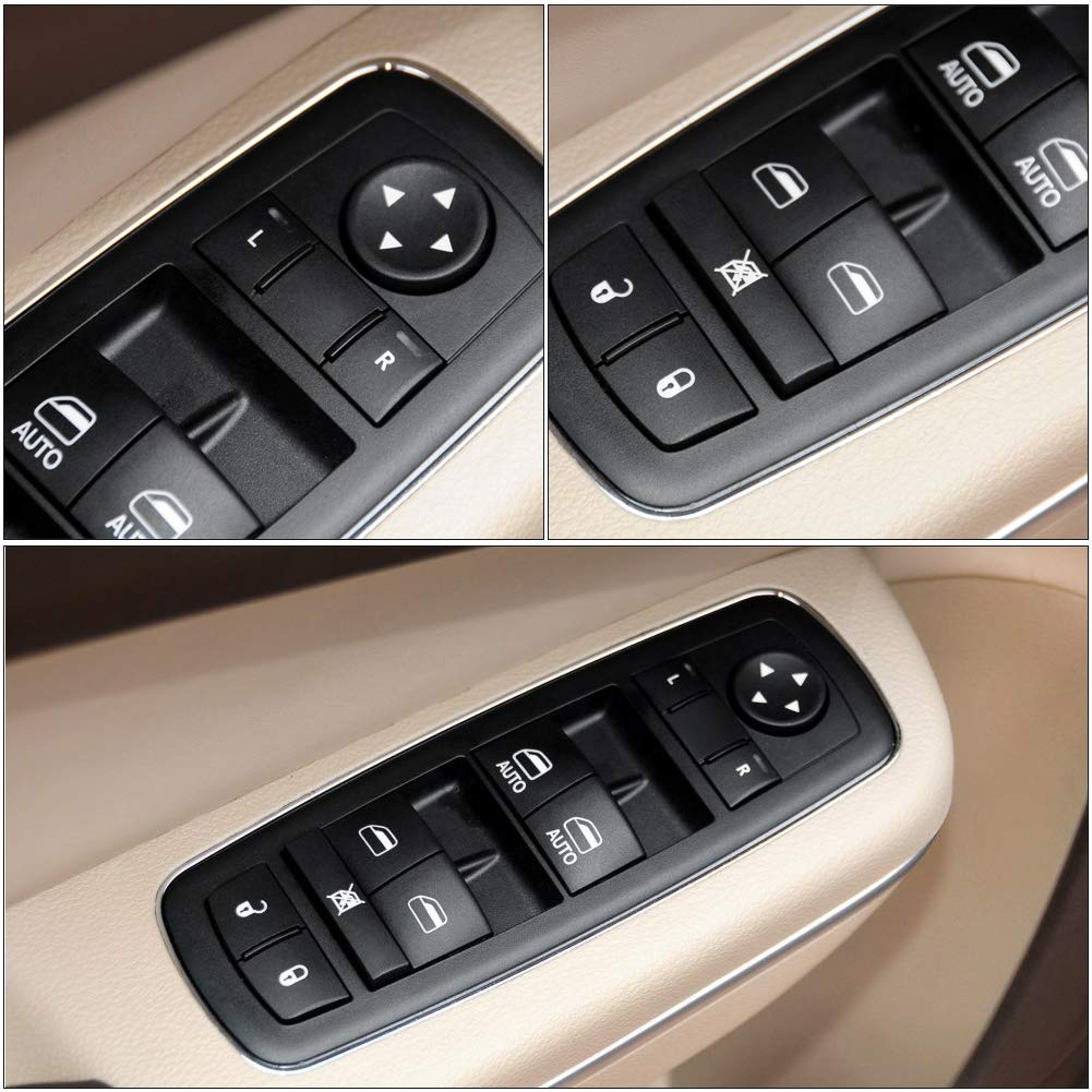12 14 Chrysler 300 Replaces# 68139805AB 68231805AA withAUTO Printed On Both Front Buttons 68139805AD WMPHE Power Window Switch Front Left Driver Side for 12-16 Dodge Journey 13 14 Dodge Charger