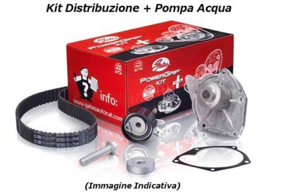 Gates K015627XS Kit distribuzione 1.2 44-51 Kw pompa acqua Fiat Panda 169