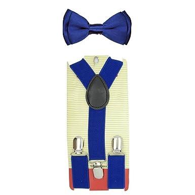 43a9aaa5121ea ChenRui Enfant Garçon Fille Ensemble Bretelles Réglables Nœud Papillon  Cravate Elastique Accessoire Vêtements Pour Pantalon Chemise (Bleu):  Amazon.fr: ...