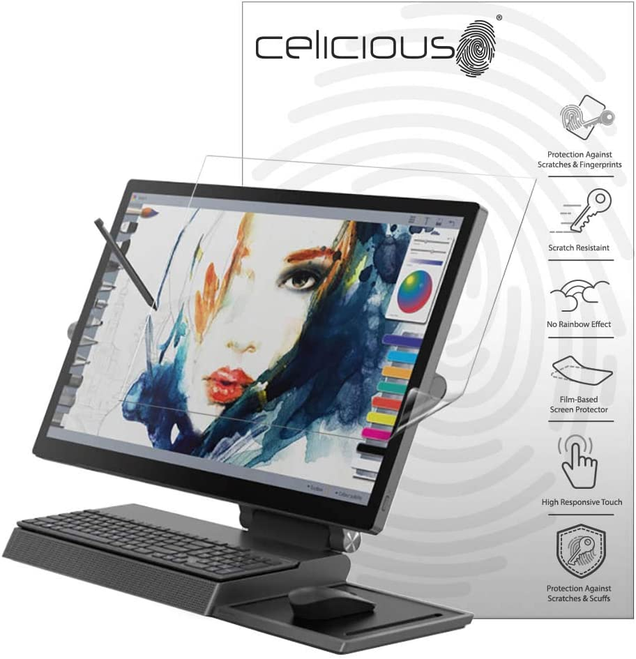 Celicious Vivid Invisible Glossy HD Screen Protector Film Compatible with Lenovo Yoga A940 Pack of 2