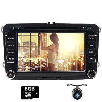 eproductor de CD y DVD estéreo de doble DIN para coche con pantalla táctil para VW
