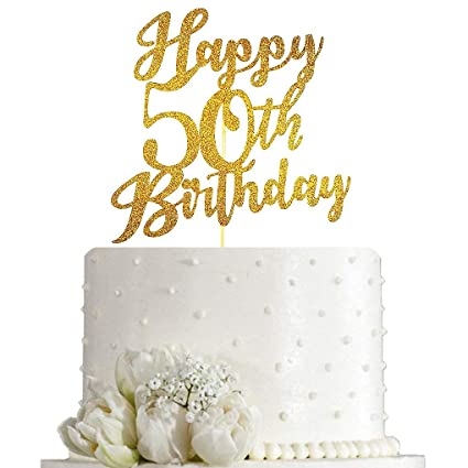 Brilliant Happy 50Th Birthday Cake Topper For 50Th Birthday Cake Topper Personalised Birthday Cards Veneteletsinfo