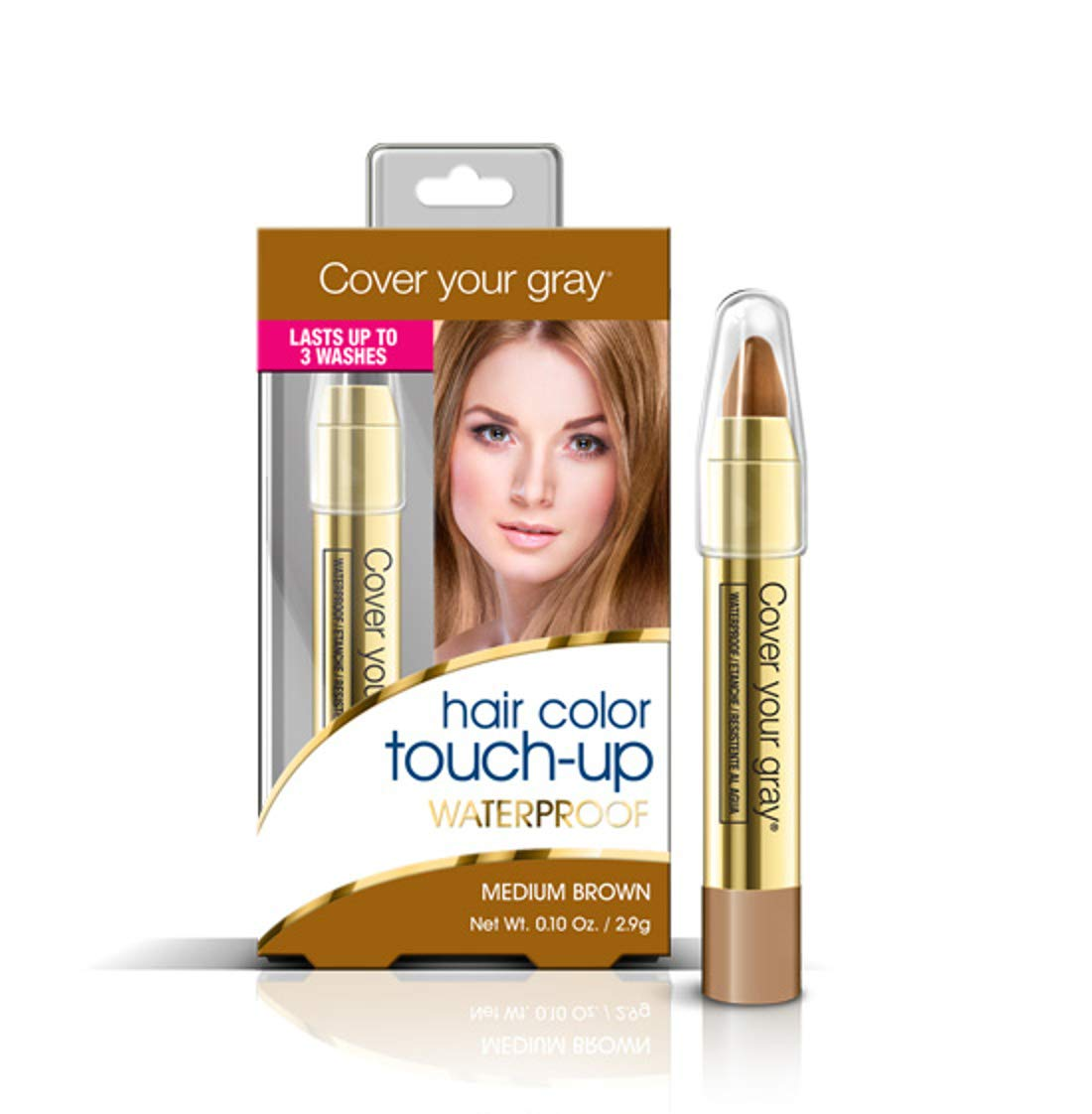 Cover Your Gray Hair Color Touch-Up Waterproof Medium Brown 0222IG