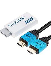 Zacro Convertidor de Wii a HDMI Real 720P 1080P HD Salida de Audio Video Adaptador Convertidor con Alta Velocidad Cable HDMI 1M Admite Todos Los Modos de Pantalla de Wii