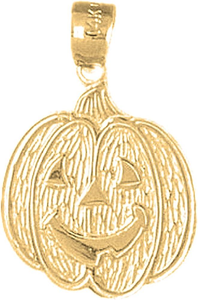 Sterling Silver 925 Pumpkin Pendant 26 mm Jewels Obsession Pumpkin Pendant
