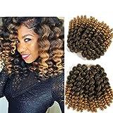 8 inch Wand Curl Braids Hair 20 Roots 3 packs JAMAICAN BOUNCE Synthetic Braiding Hair Crochet Braids Hair