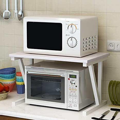 Amazon.com: WT Shelving Unit BJLWT 2 Tier Microwave Oven ...