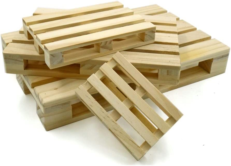 Bandeja Aperitivos Mini Pallet madera menos Vaso/Ollas: Amazon.es ...