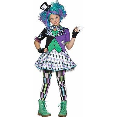 Amazon.com: Girls Mad Hatter Purple Teen Halloween Costume: Clothing