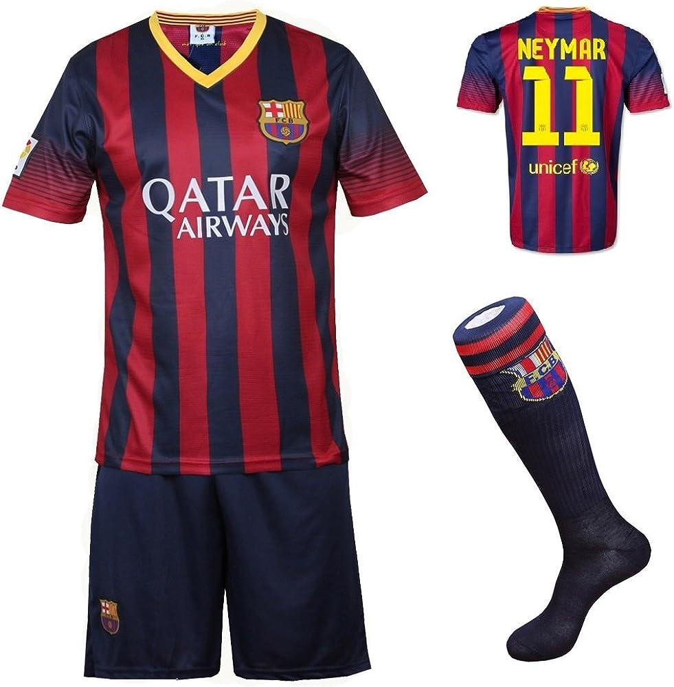 Amazon Com 2013 2014 Fc Barcelona Home Neymar 11 Football Soccer Kids Jersey With Free Shorts Socks Set 8 10 Years Old Clothing
