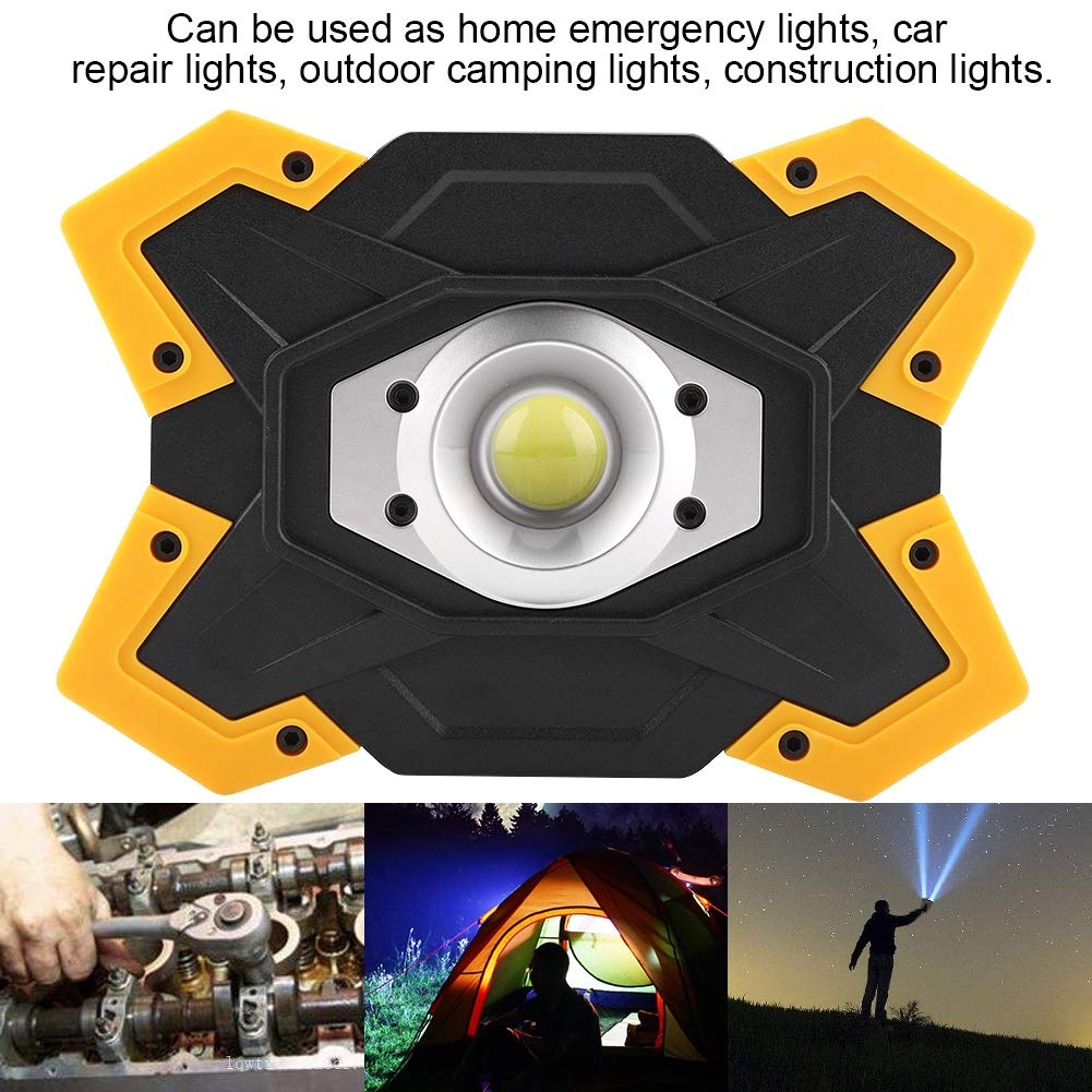 Carga USB COB LED Impermeable Outdoor Emergency Work Flood Lamp searchlight Riuty focos port/átiles