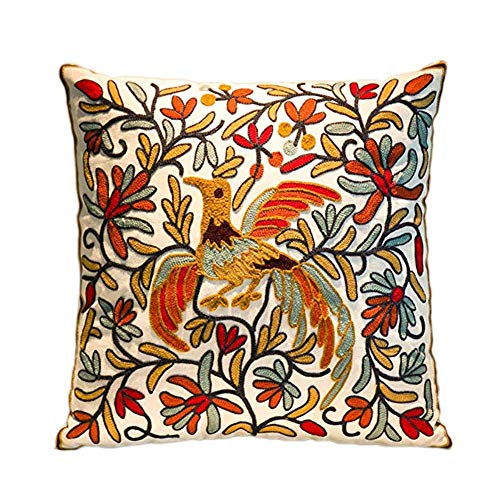 (18x18 Inches Pillows Cover Ethnic Boho Embroidery Printed Standard Size Cotton Decorative Canvas Square Throw Pillow Cases   Cushions Covers)