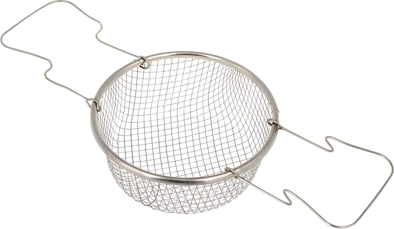 Wire Basket for Cooking - 6.29 Inch - Fry Basket with Handle - Deep Frying Basket