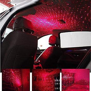 Hihey Auto Atmosphäre Lampe Led Innenraum Sternelicht Innenbeleuchtung Usb Fernbedienung Romantische Dekoration Auto Dach Stern Projektor Lichter Küche Haushalt