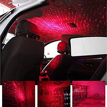 USB Auto Atmosphäre Lampe Innenraum Ambient Star Light LED Projektor Sternenhimm