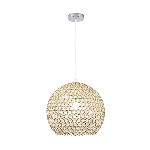 Lámpara de techo moderna de araña ajustable - Lámpara colgante Iluminación cristal Ø40cm E27 (No incluye bombilla)