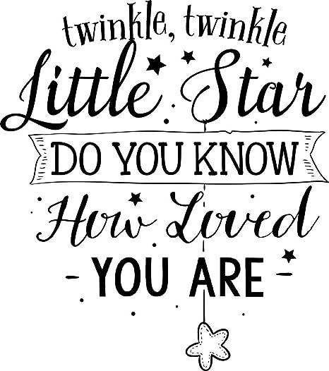 Crjzty Twinkle Little Star Etiqueta de la Pared Etiqueta Kids Room ...