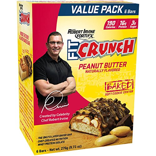 Robert Irvine Fit Crunch Whey Protein Bars - 828g (18 Bars)