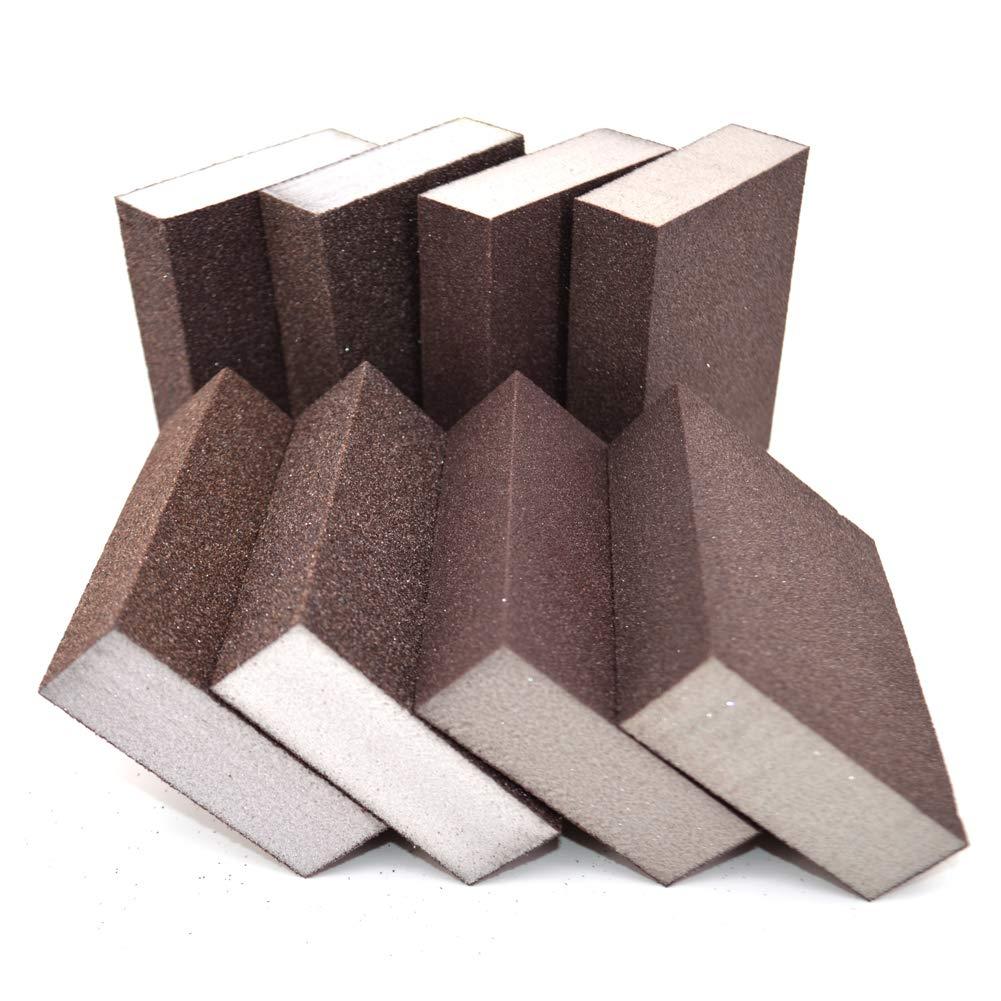 Sanding Sponge,Sanding Blocks,Washable and Reusable Sand Sponge for Kitchen Cleaning,Woodworking Polishing(8 Pcs 4 Size)
