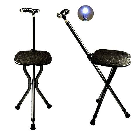iazon 2 en 1 Walking Stick Seat multifuncional Masaje Cane Altura ...