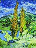 hampton bay cabinets reviews Oil Painting 'saint-remy' s Aspen', 20 x 27 inch / 51 x 68 cm, on High Definition HD canvas prints is for Gifts And Hallway, Kitchen And Powder Room Decoration, art printing