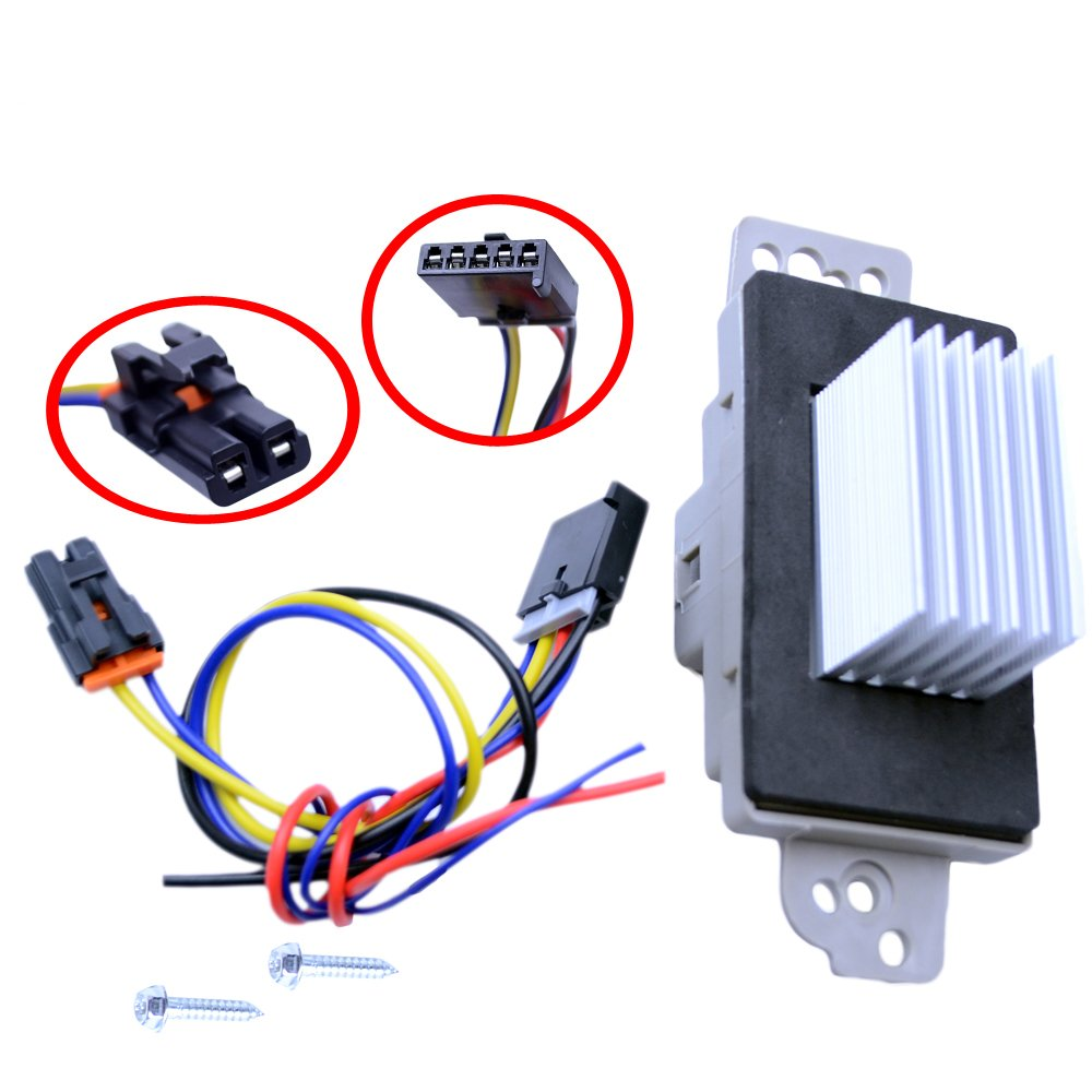 FLYPIG 89018778 Heater Blower Control Module w// Wire Harness for Chevy Pickup Truck